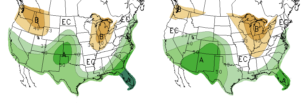 March and Spring 2016 Forecast maps