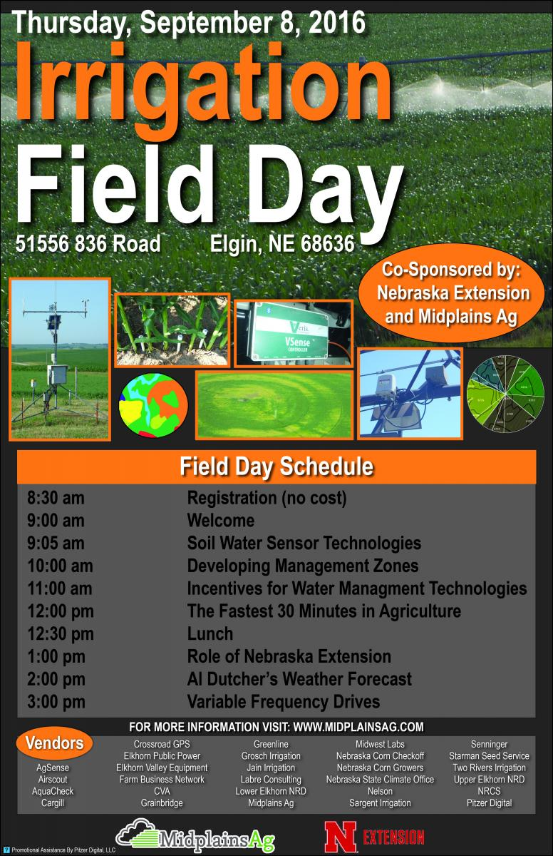 Flyer Promoting Sept. 8 Irrigation Technologies Day