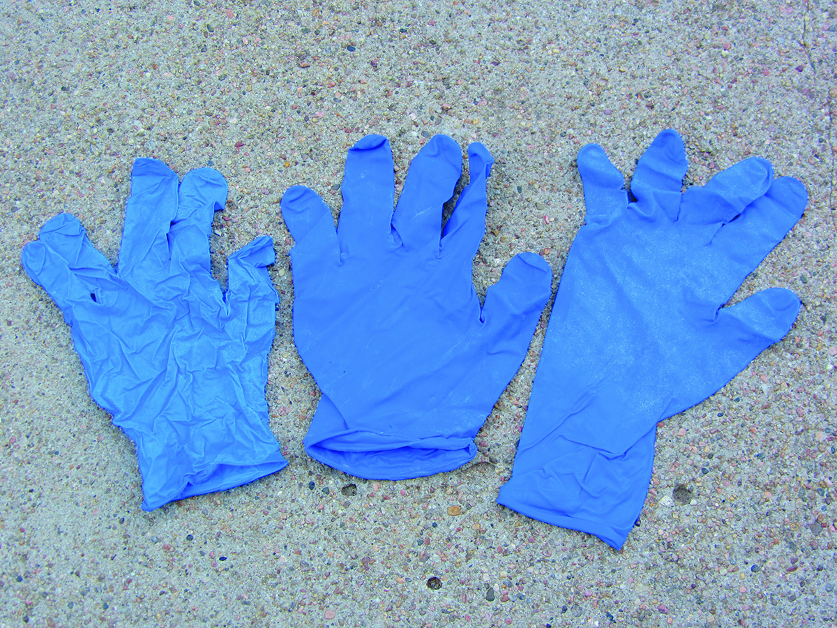 Gloves that can be used when applying pesticides