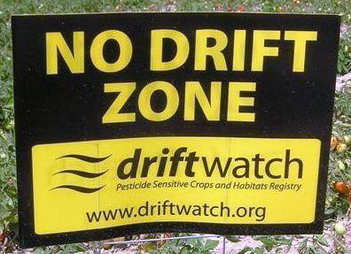 Field sign identifying No Drift Zone