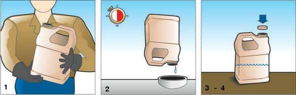 Steps to triple rinse pesticide containers for recycling or disposal