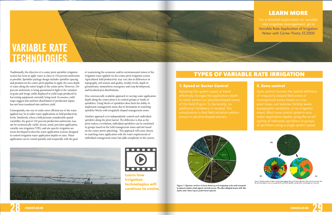 Pages from the new online UNL Ag Water Management Guide