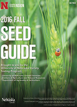 2016 UNL Fall Seed Guide cover