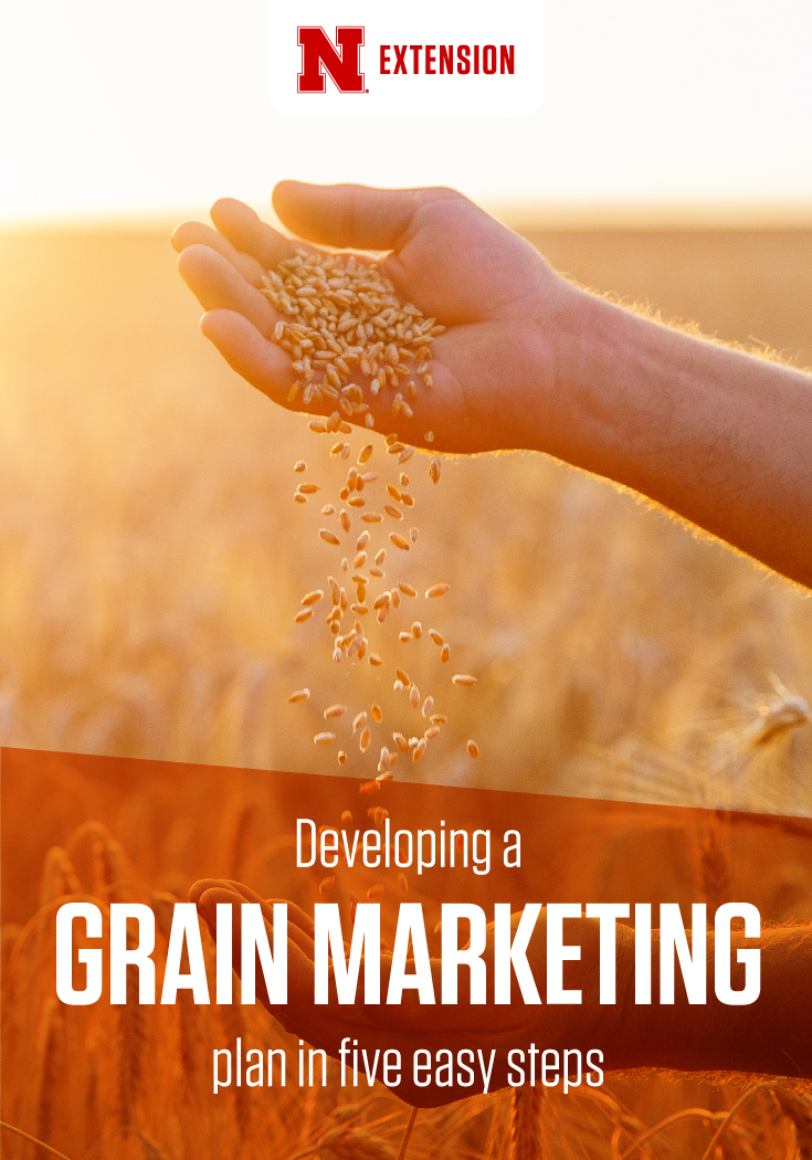 Infographic promoting grain marketing tips