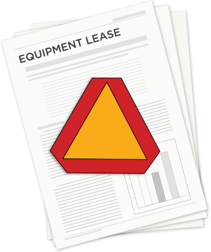 equipment lease caution graphic