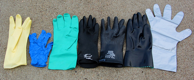 Chemical-resistant gloves for pesticide application