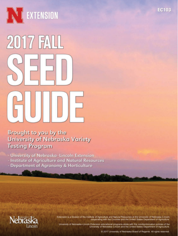 2017 Fall Seed Guide cover Wheat Seed Guide Cover
