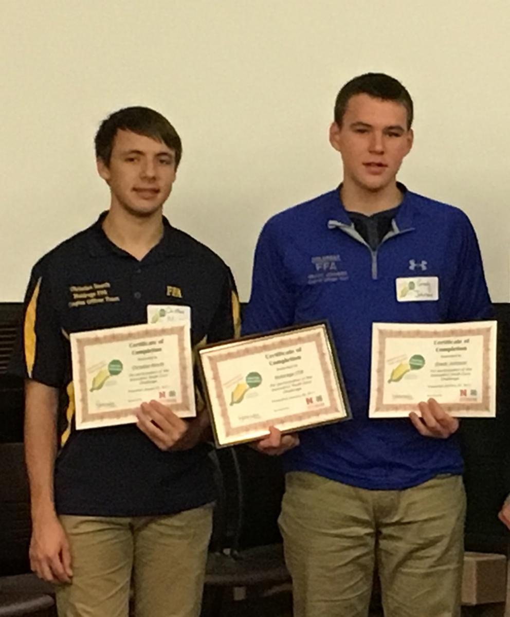 Holdrege FFA Team in Innovative Youth Corn Challenge