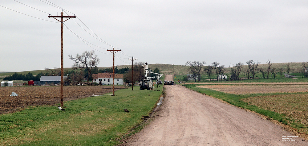 Line crews fixing power lines Friday morning