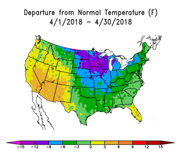 April Temperatures 2018