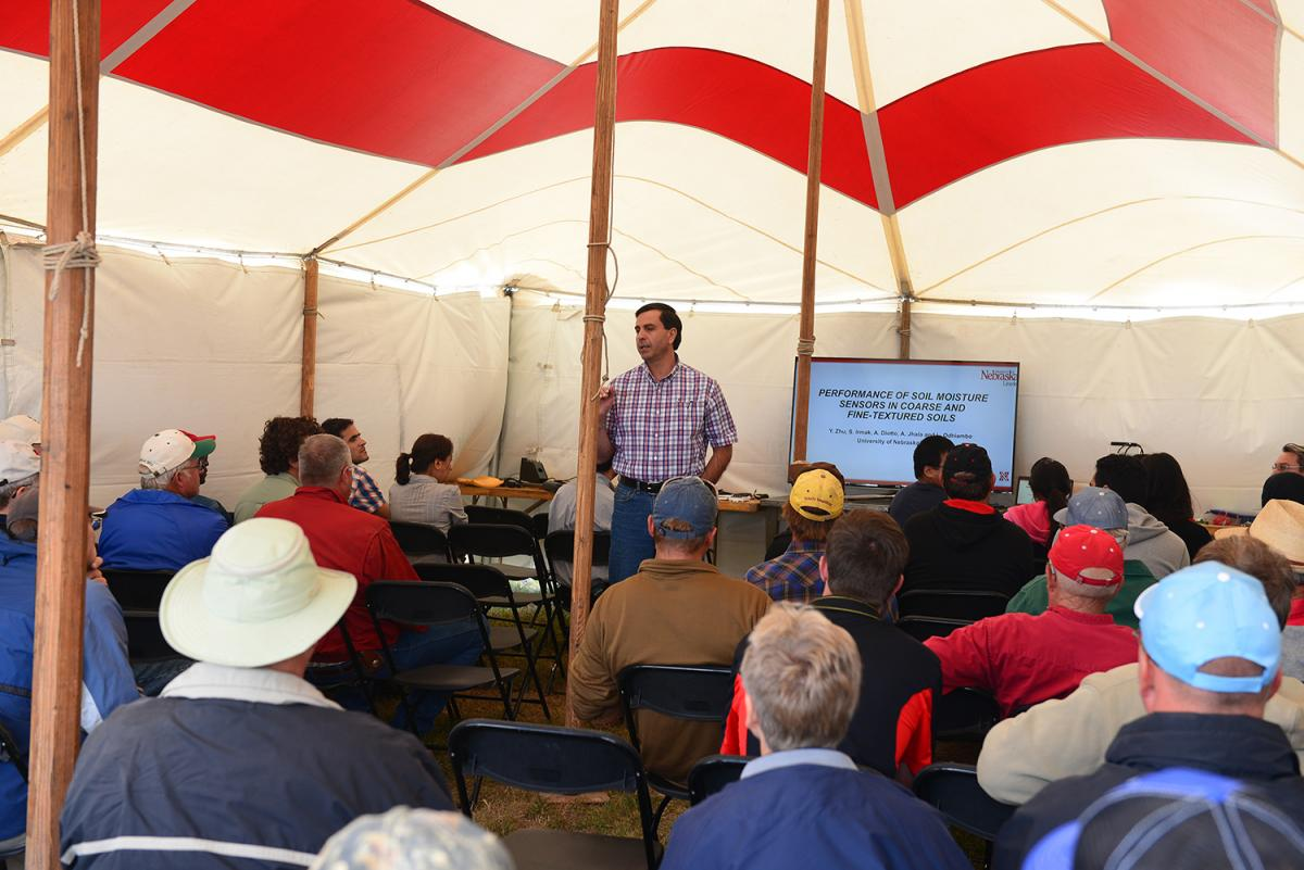 Nebraska Extension Water Management Engineer Suat Irmak discusses research to provide more efficiency water use in crop production.