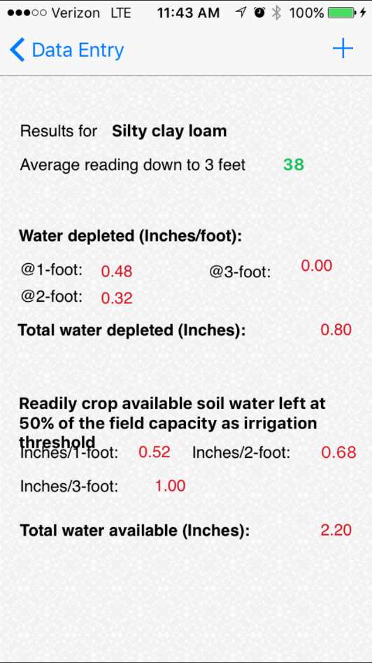 Crop Water App Data Entry