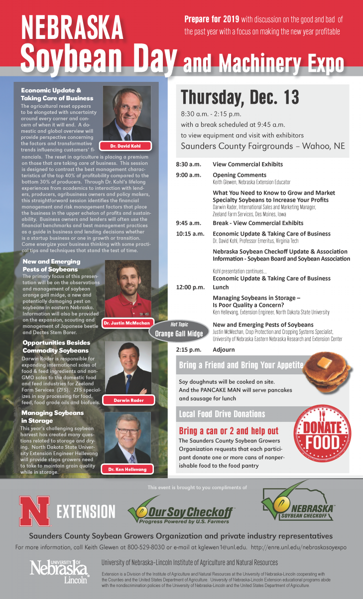 2018 Nebraska Soybean Expo Flyer