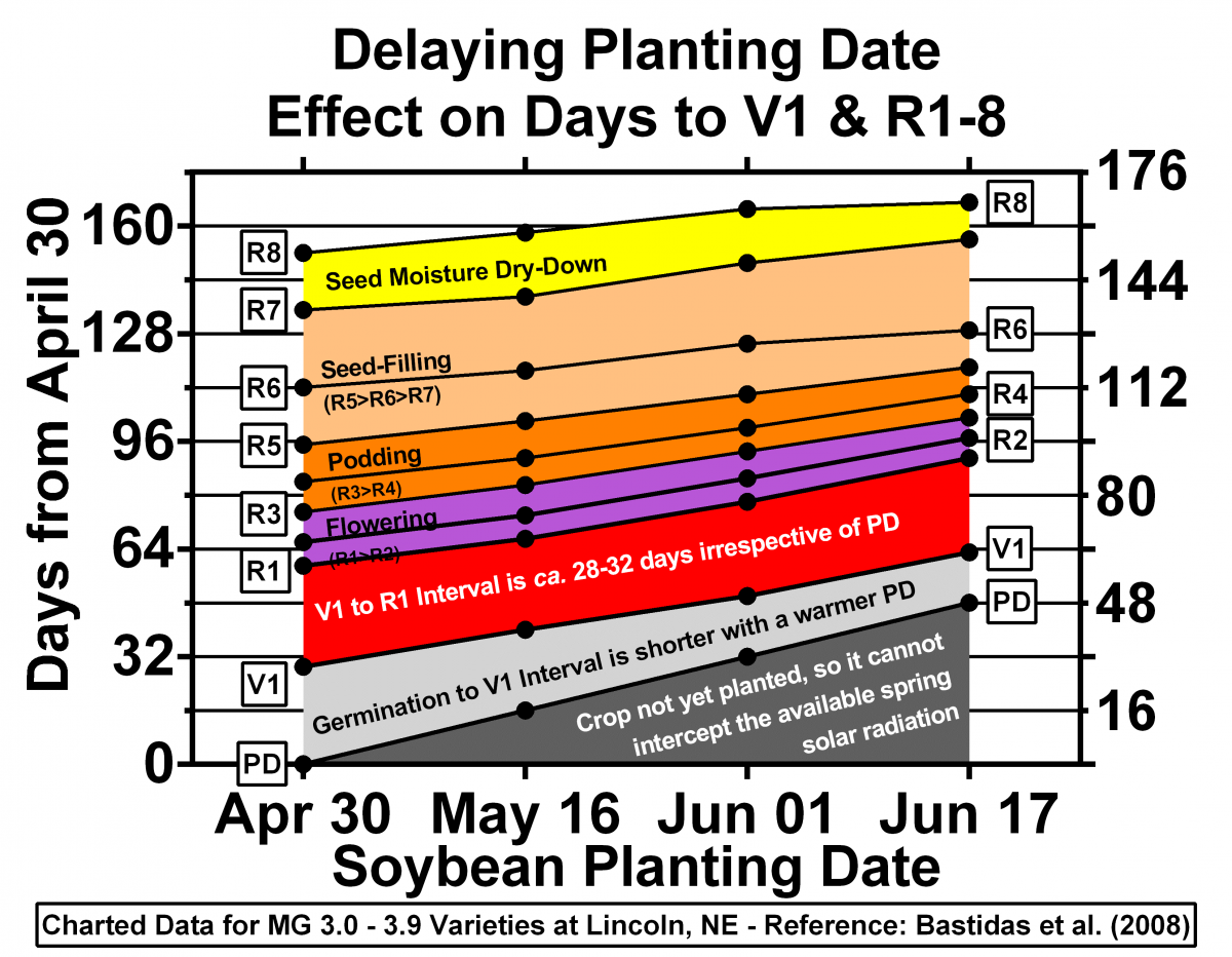 Delayed soybean planting date chart
