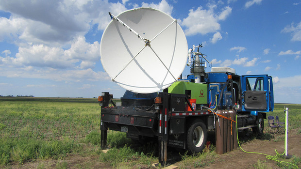 A Doppler on Wheel working in the field