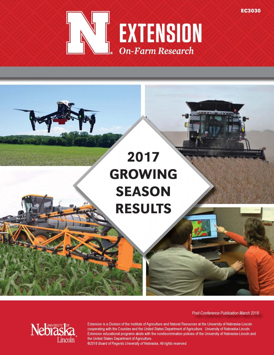 Cover of 2017 on-farm research results