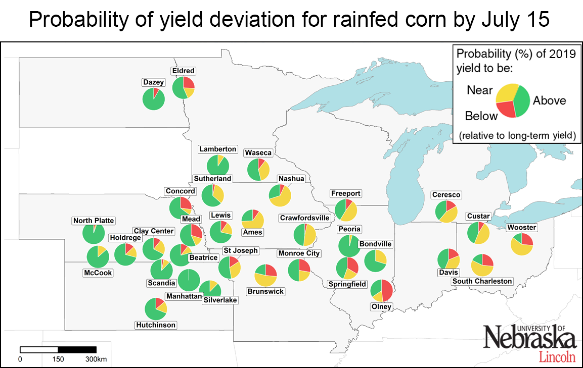 Rainfed yield deviation (corrected) as of July 15
