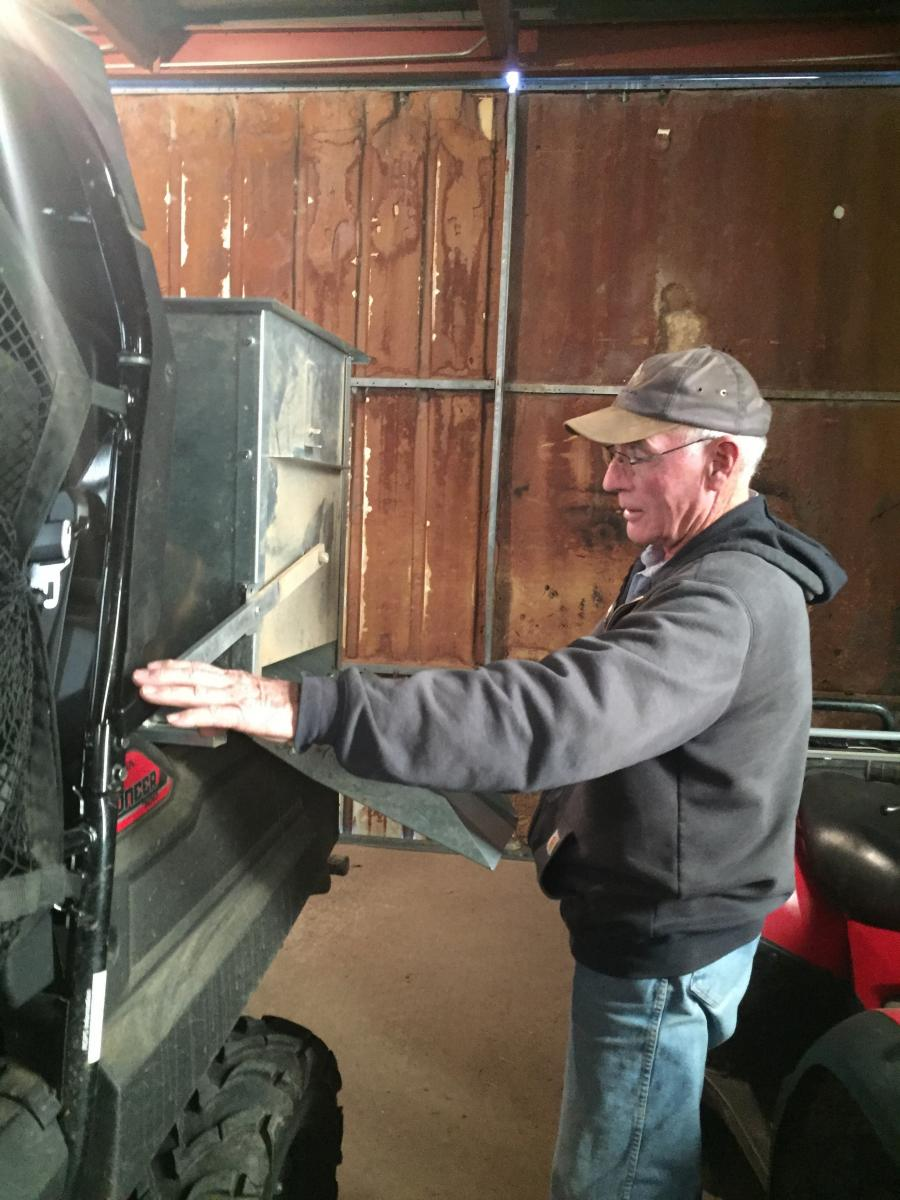 Nebraska rancher Rowan Ballagh uses new assist technology on his ranch.