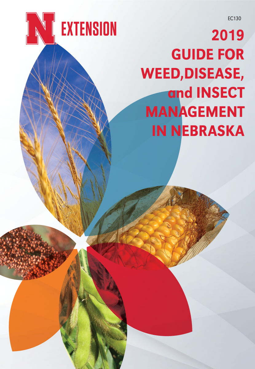 Cover of the 2019 Guide for Weed, Disease, and Insect Management in Nebraska