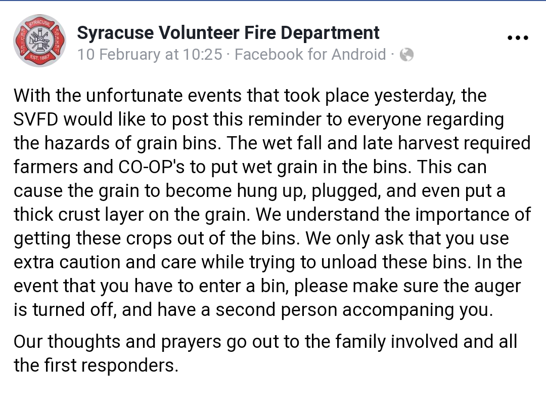 Screenshot of Syracuse Volunteer FD FB