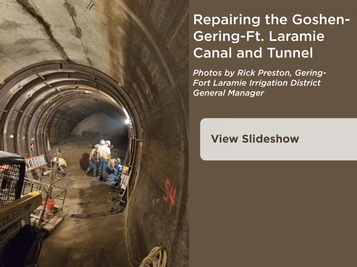 Repairing the Gering-Ft. Laramie Canal and Tunnel