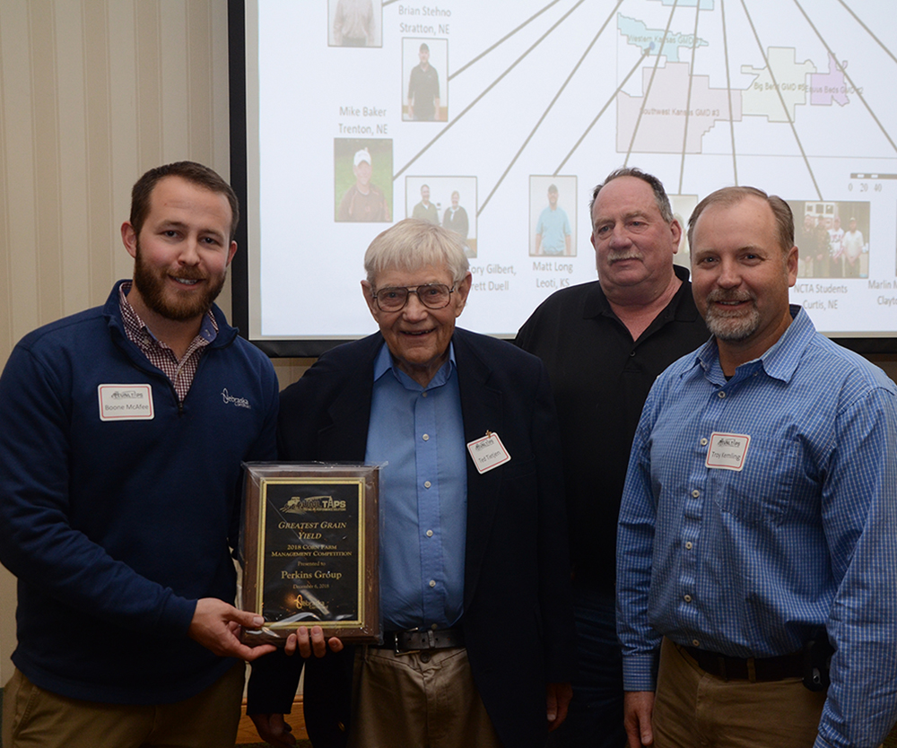 The Perkins Group wins for top corn yield