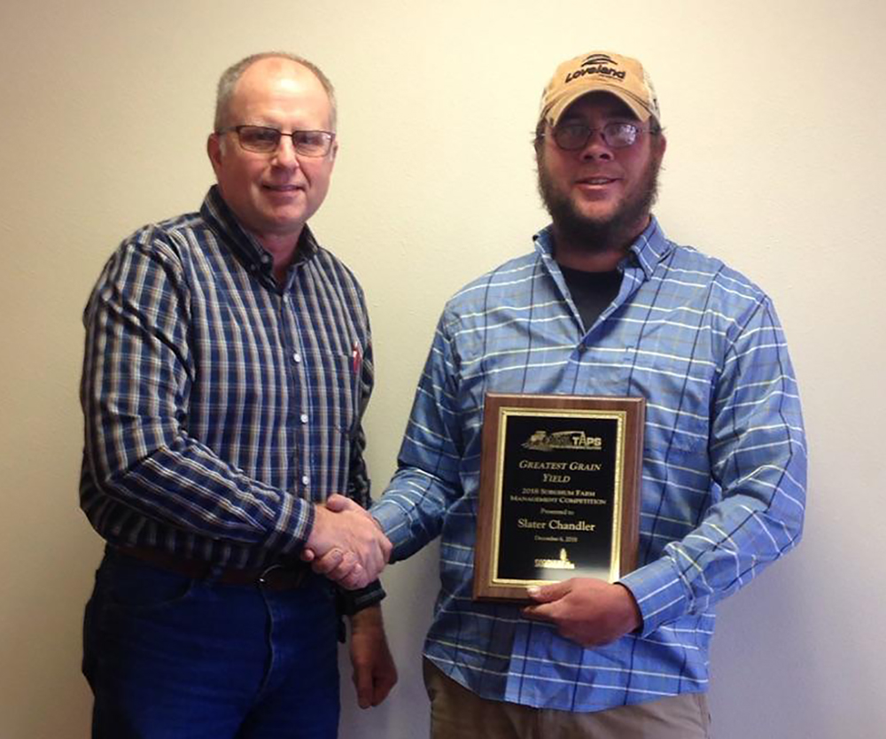 TAPS top sorghum yield winner