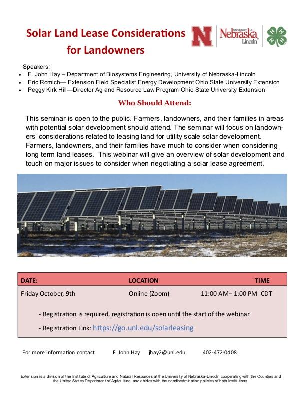 solar land lease flyer
