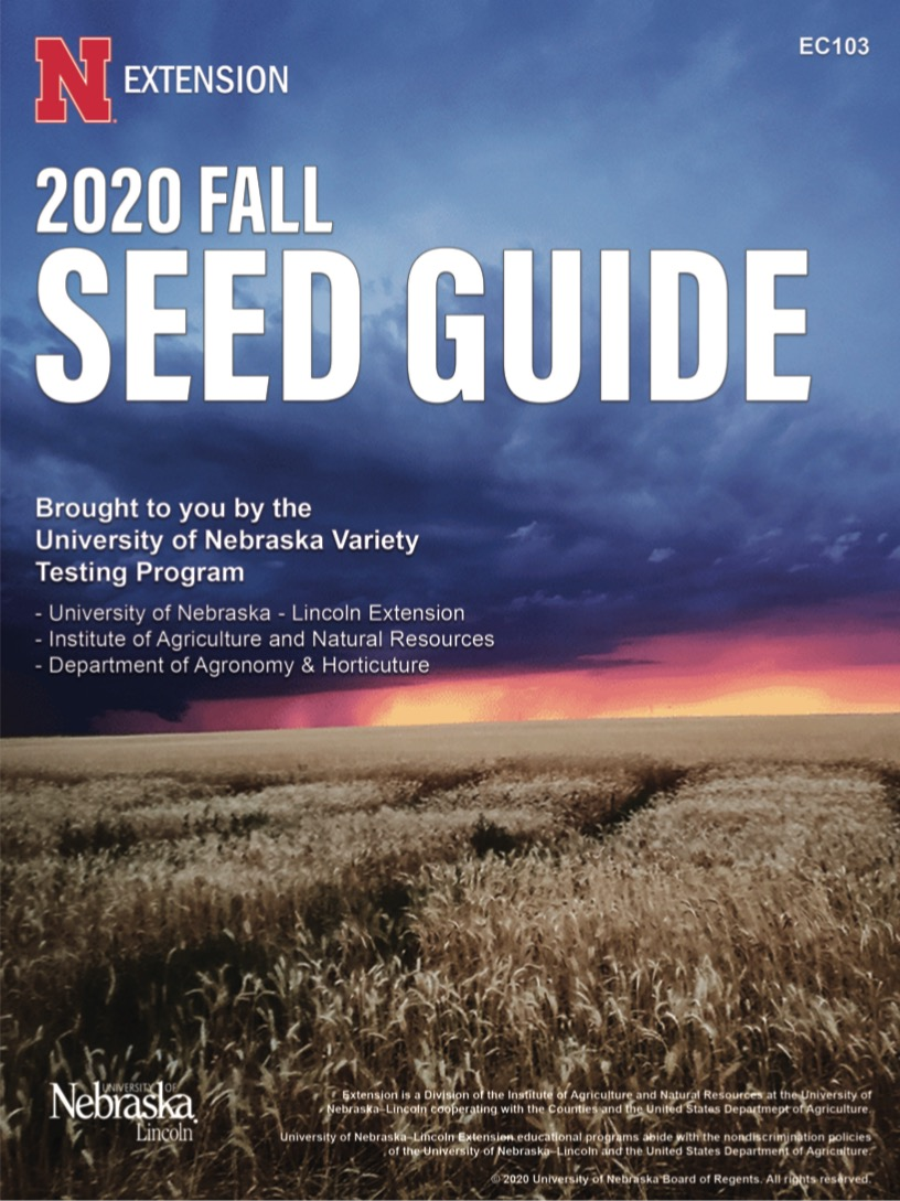 2020 Fall Seed Guide cover Wheat Seed Guide Cover