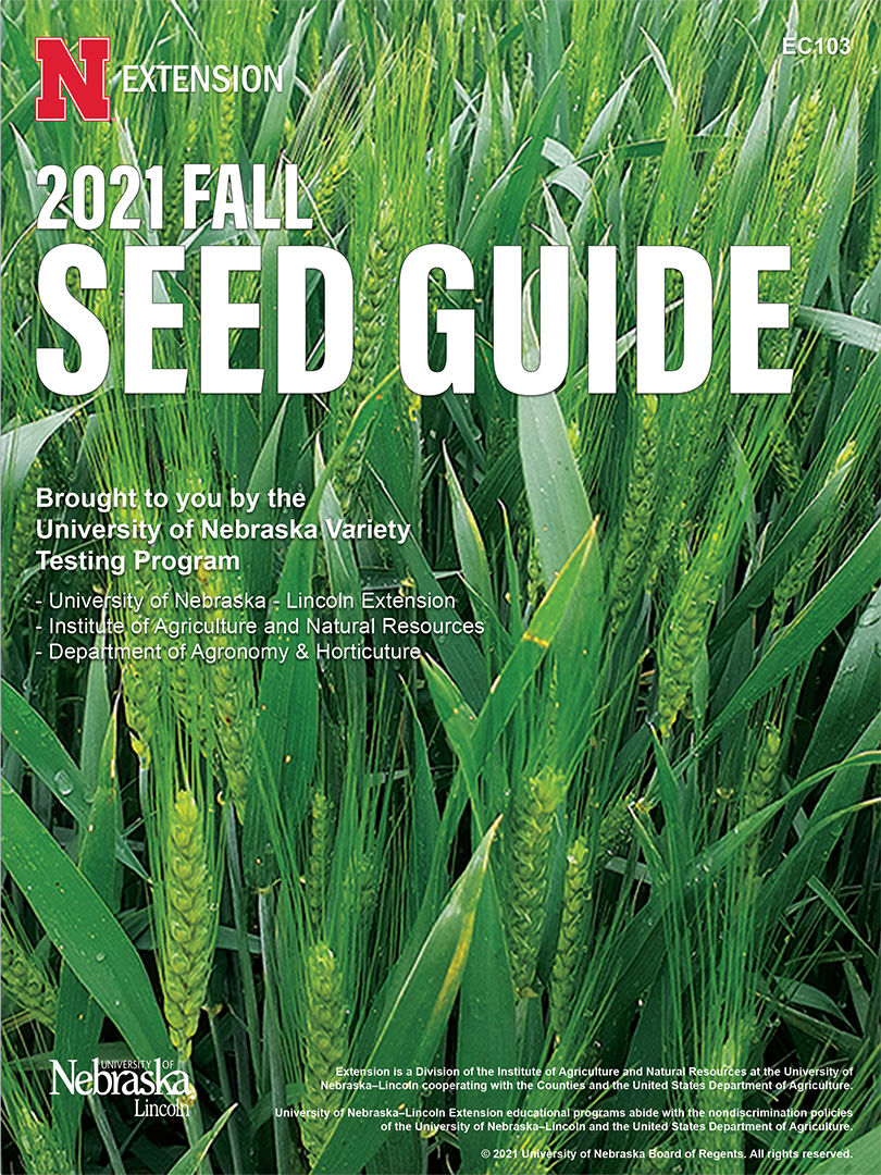2021 Fall Seed Guide cover
