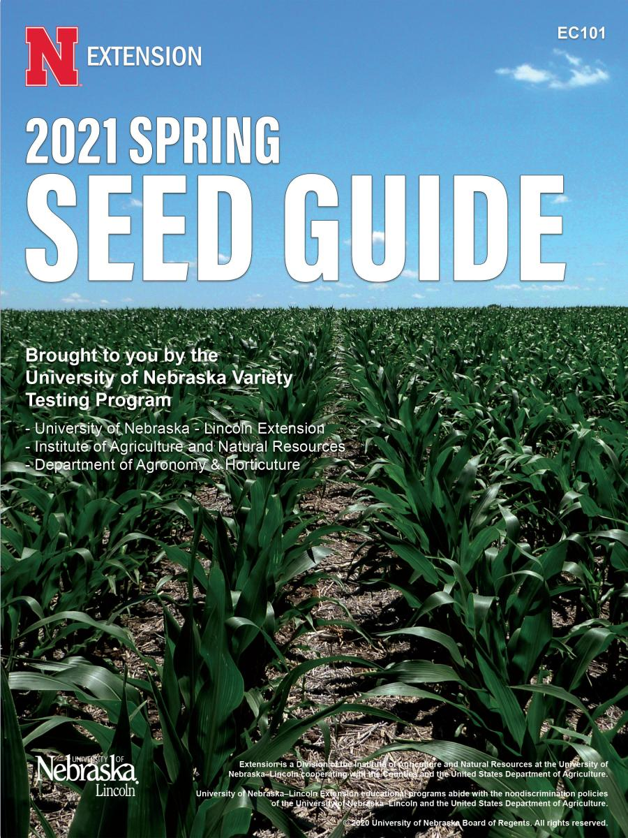 2021 Spring Seed Guide cover