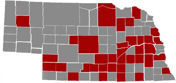 Results Database County Map