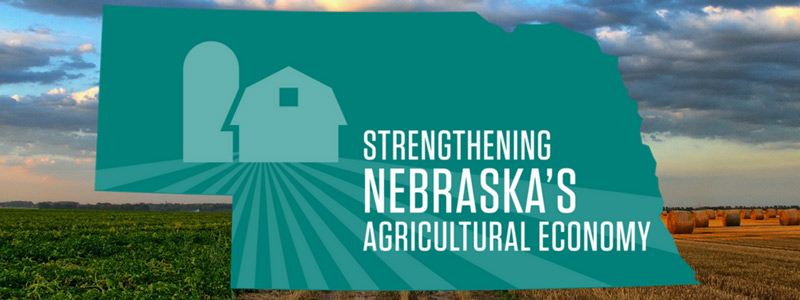 Strengthening Nebraska's Agricultural economy Graphic