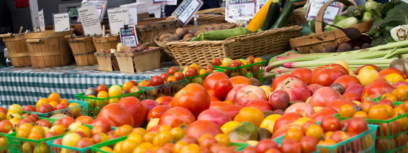 Vegetables for sale at a farmer's market