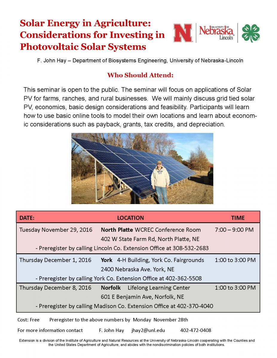 Solar Energy In Agriculture Flyer