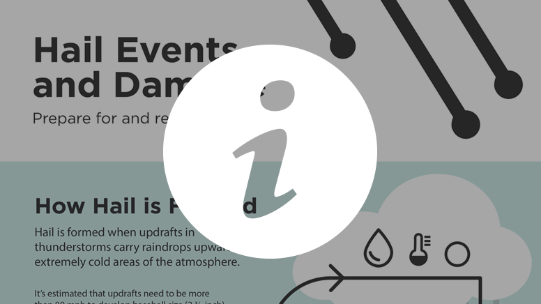 Preview of infographic. Links to story 'Infographic: Hail Events and Damage'.
