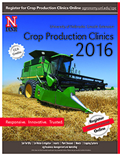 Flyer for 2016 Crop Production Clinics
