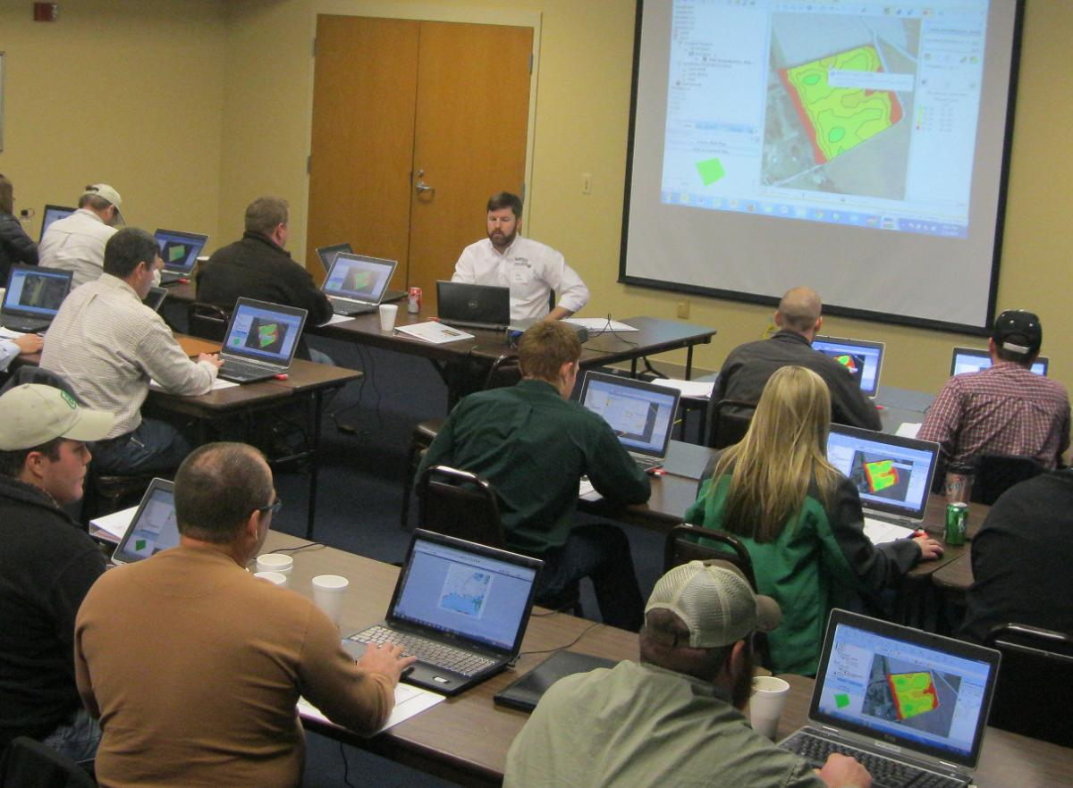 Hands-on training at a Precisions Ag Workshop