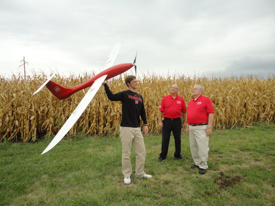 UNL Researchers with UAV