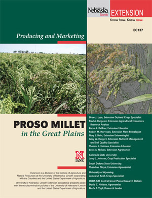 Photo of the cover of EC137, Proso Millet production guide.