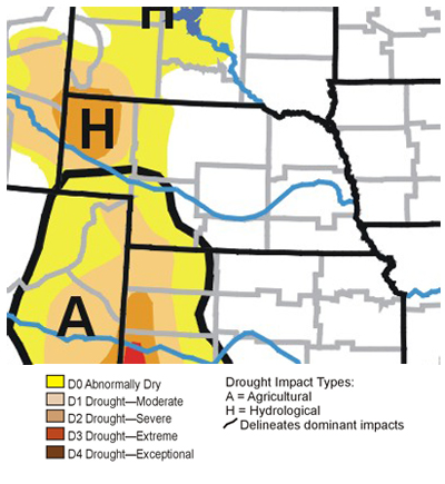 Regional drought map