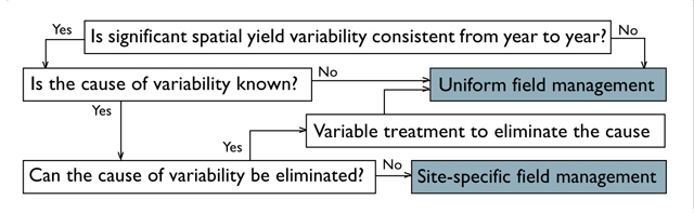 Yield Map Decision Making Flowchart