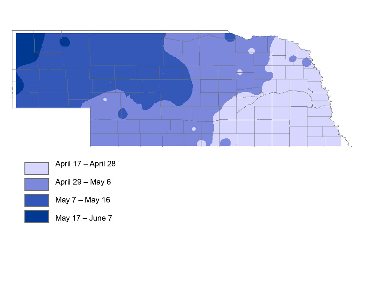 Dates And Probabilities For The Last Spring Freeze Across