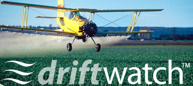 Image of aerial pesticide application plane