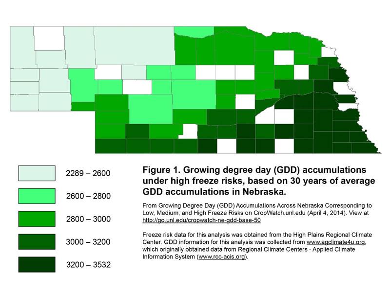 gdd aculation under high freeze risk scenario
