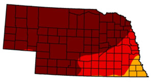 March 12, 2013 Nebraska Drought Monitor Map