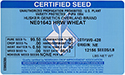 blue wheat seed tag