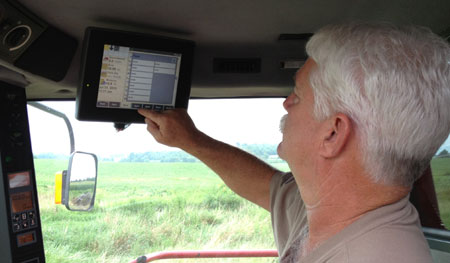 Adusting the yield monitor