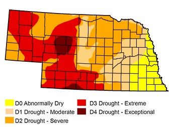 drought monitor of Nebraska