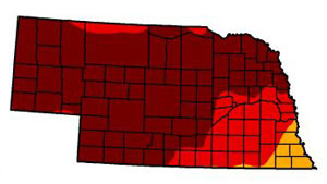 March 19, 2013 Nebraska drought monitor map
